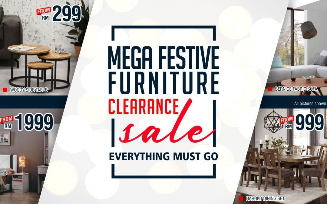 Mega Festive Furniture Clearance Sale
